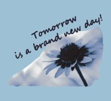 Tomorrow is a Brand New Day--Daisy  Blue Tee by Corri Gryting Gutzman