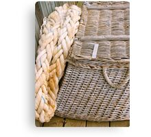 Fishing basket Canvas Print