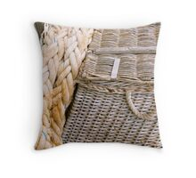 Fishing basket Throw Pillow