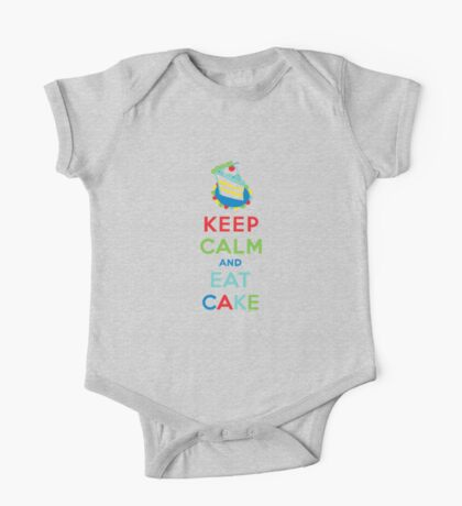 Keep Calm and Eat Cake - on white One Piece - Short Sleeve