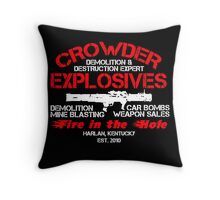 Crowder Explosives Justified Funny Humor Hoodie / T-Shirt Throw Pillow