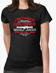Crowder Explosives Justified Funny Humor Hoodie / T-Shirt Womens Fitted T-Shirt