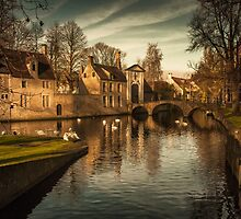 Bruges canal by Chris Fletcher