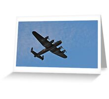 Lancaster Bomber fly over Greeting Card