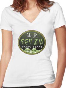 Magic beans Women's Fitted V-Neck T-Shirt