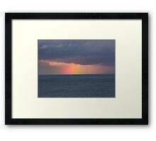 Rainbow at Sea Framed Print