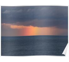 Rainbow at Sea Poster
