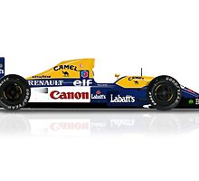 Nigel Mansell - Williams Renault FW14B by JageOwen