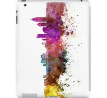 Mobile skyline in watercolor background iPad Case/Skin