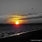Sunset on Atlantic Ocean off coast of Maine by DoulaFaire