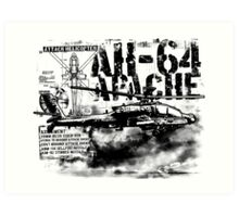 AH-64 Apache Art Print