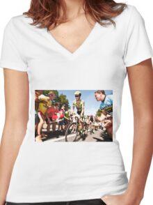 Alberto Contador Women's Fitted V-Neck T-Shirt