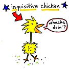 Inquisitive chicken color by Ollie Brock