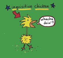 Original Inquisitive Chicken color T shirt Kids Clothes