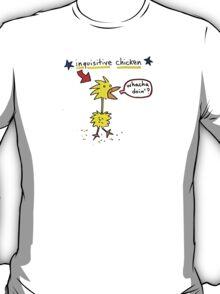 Original Inquisitive Chicken color T shirt T-Shirt
