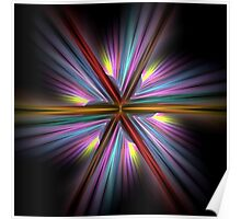 Abstract Multicolored Design Poster
