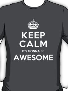 Keep Calm It's Gonna be Awesome T-Shirt
