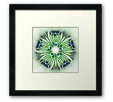 Abstract Flower in Green and Blue Framed Print
