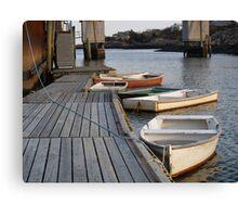Maine Row Boats Canvas Print