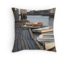 Maine Row Boats Throw Pillow