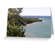 Pictured Rocks view from the logslide Greeting Card