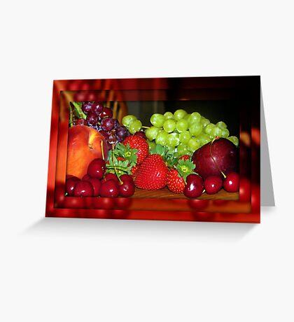 Luscious Fruit Greeting Card
