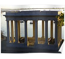 Portico over Plymouth Rock Poster