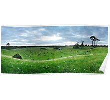 Curragh Cemetery Panorama Poster
