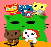 Avengers Kitties by mayiying89