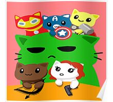 Avengers Kitties Poster