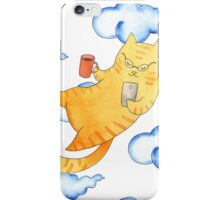 Vector illustration of cartoon cats playing soccer. iPhone Case/Skin