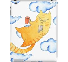 Vector watercolor illustration of cat hipster. iPad Case/Skin