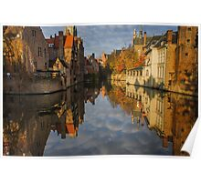 Reflections of Bruges Poster