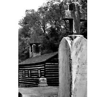 Old Log Church Photographic Print