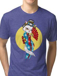 Geisha Meow Tri-blend T-Shirt