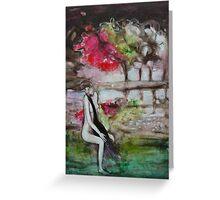 Leda and the Swan II Greeting Card