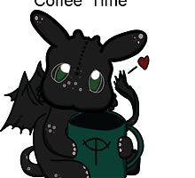 Toothless Chibi Coffee Time  by thenightfuries