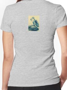 Eagle with prey Women's Fitted V-Neck T-Shirt