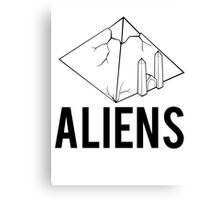 Aliens Ancient Monuments Evidence Canvas Print