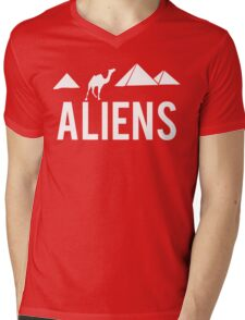 Aliens Ancient Monuments Evidence Mens V-Neck T-Shirt