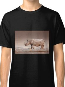 Black Rhinoceros baby running Classic T-Shirt