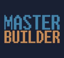MASTER BUILDER with toy bricks Kids Tee