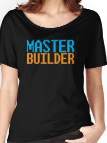 MASTER BUILDER with toy bricks Women's Relaxed Fit T-Shirt