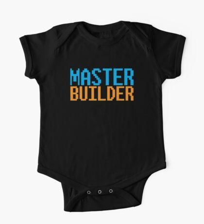 MASTER BUILDER with toy bricks One Piece - Short Sleeve