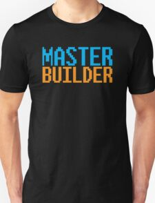 MASTER BUILDER with toy bricks Unisex T-Shirt