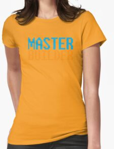 MASTER BUILDER with toy bricks Womens Fitted T-Shirt