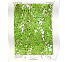 Massachusetts  USGS Historical Topo Map MA Wales 350672 1952 24000 Poster