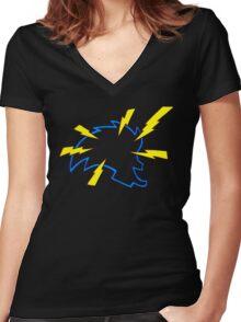 Freak Bolts Women's Fitted V-Neck T-Shirt