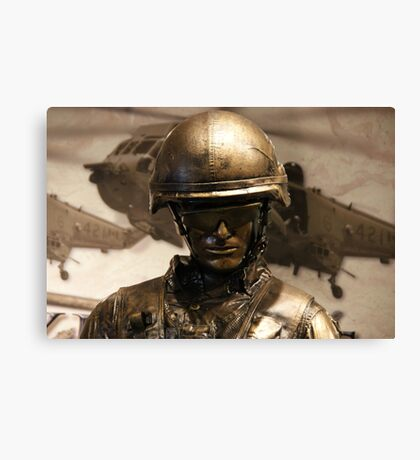 Canadian Soldier Canvas Print