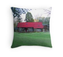 Our KY cabin Throw Pillow